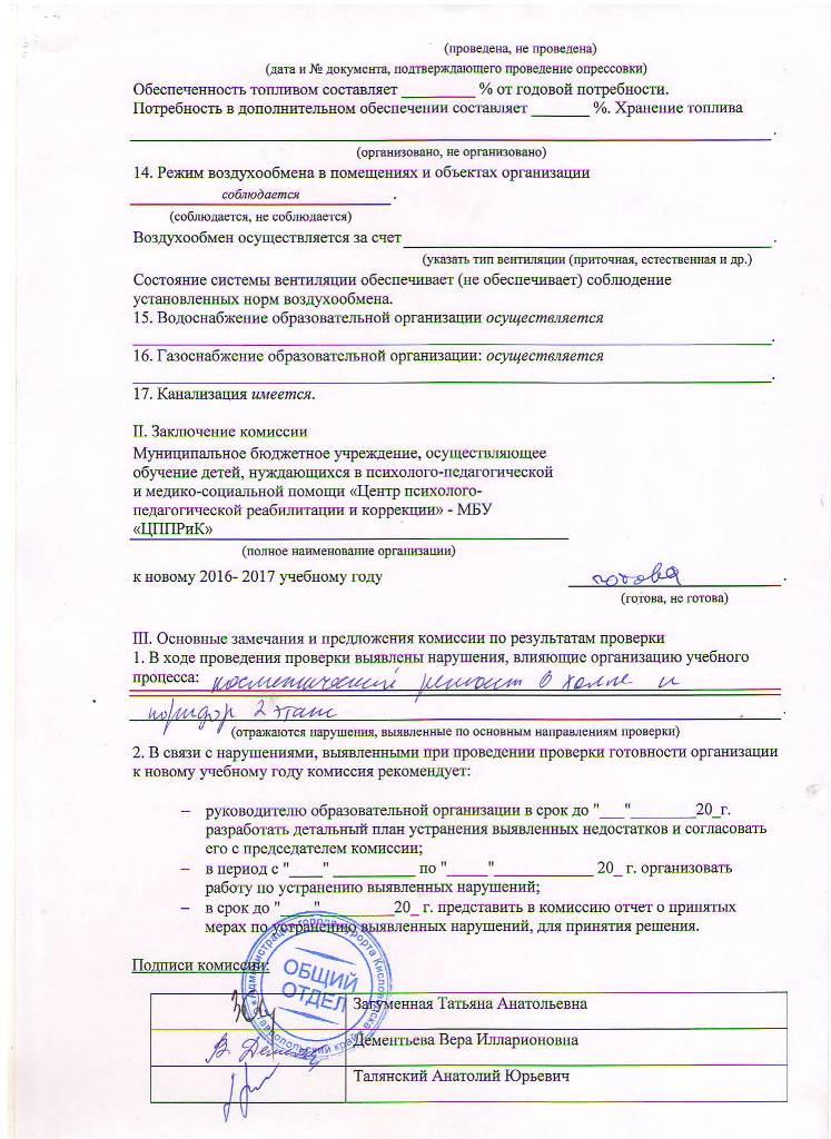 Акт проверки готовности учреждения на 2016-2017 гг Лист 11