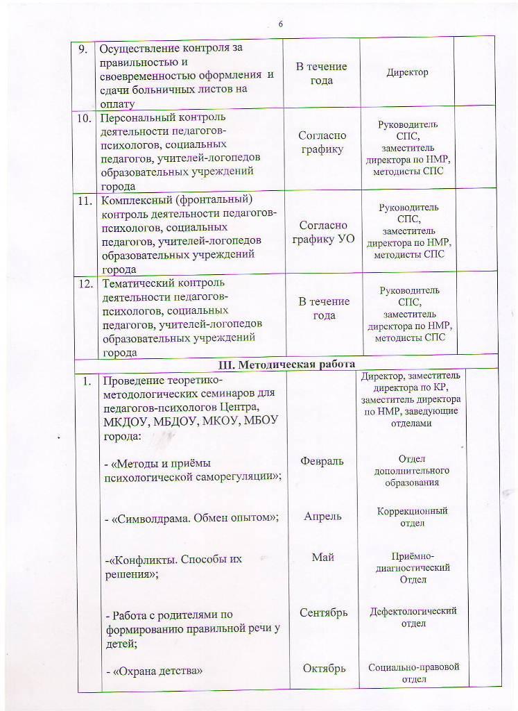 План работы МБУ ЦППРиК на 2017 год Лист 6