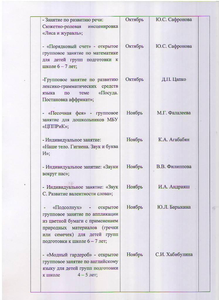 План работы МБУ ЦППРиК на 2018 год Лист 13