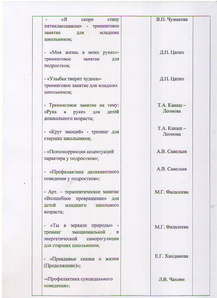 План работы МБУ ЦППРиК на 2018 год Лист 21