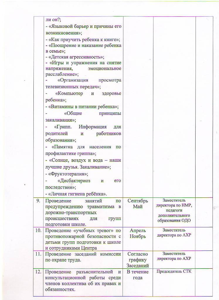План работы МБУ ЦППРиК на 2018 год Лист 24