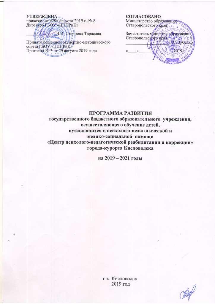 Программа развития на 2019-2021